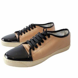 Browns ID Leather Black Cream Sneakers Size 39.